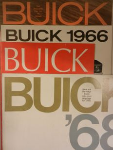 BUICK Brochures from1963 onward. 11 pieces. And pictures/images archive 1960s.