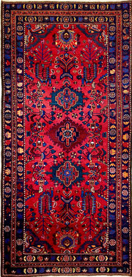 Persian carpet Hosseinabad, 270 x 135 cm. No reserve price, bidding starts from €1.