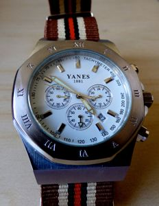 Watch: YANES 1881 – Chronograph – Swiss Made – Period:  Late 1990s – Men's watch