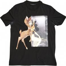 Givenchy Bambi Black Cotton T Shirt Tee