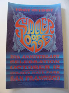 Summer of Love San Francisco 30th Anniversary Celebration 1997 Poster by David Singer