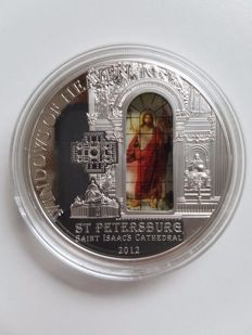 Cook Islands – 10 Dollars 2012 'Saint Isaac's Cathedral – Saint Petersburg' – silver