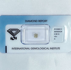 Diamond – 0.58 ct, N, VS1