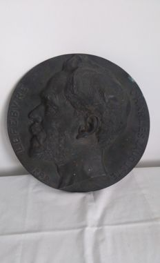 Jules Roulleau (1855-1895) - large bronze plate - France - 1892