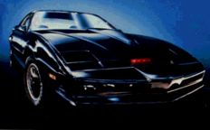 """Knight Rider """"K.I.T.T."""" Hotwheels Elite - Scale 1/18 - with working front red sensor light! Very hard to find!"""