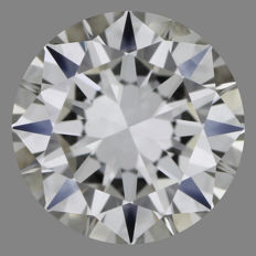 Brilliant cut diamond of 0.70 ct, G-SI1