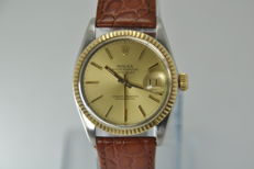 Rolex Datejust Gold Steel Ref. 16030 Automatic Watch