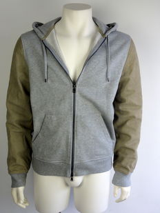 Michael Korts - jacket - cardigan - with suede - hood