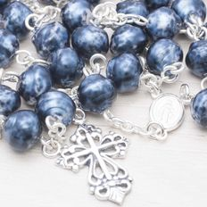 925 Sterling silver - Rosary - Pearls of Bohemia - Length 65 cm