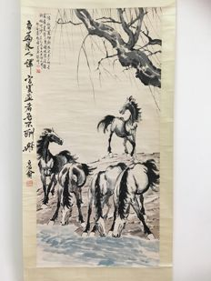 Ink painting made after Xu Beihong - China - Late 20th century