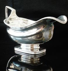 Large Antique Silver Sauce Gravy Boat, London 1808