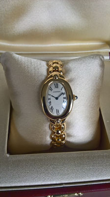 Cartier tub-shaped wristwatch for ladies