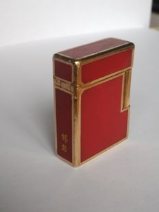 Lighter S.T  Line 1 Dupont Chinese lacquer gold plated