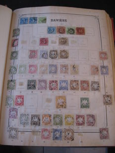 Old German States – Collection of stamps.