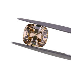 Natural Fancy Brown 2.09 ct. VS2 Cushion shape Diamond, GIA Certified