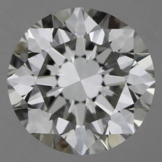Brilliant cut, 0.50 ct, G-VS2.