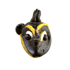 A Phoenician Glass Pendant in the Shape of a Demonic Mask- 32 x 25 mm