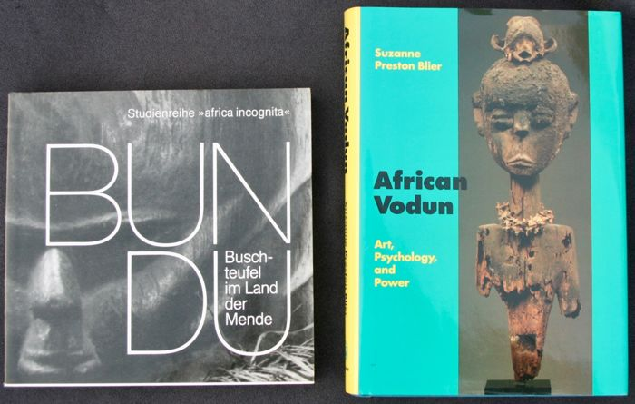 "2 Books on African art : ""Bundu: The devils of the bush in the Mendé country"" (German) - ""African Vodun"" (English)"