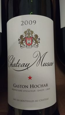 2009 Chateau Musar ( Gaston Hochar) from Lebanon x 6 bts