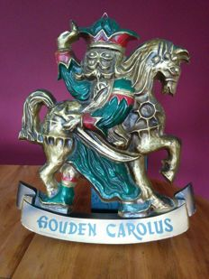 Golden Carolus beer - Billboard made of plastic (probably Forex) - 1960s - collector's item