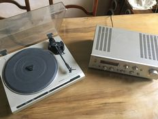 Technics amplifier model SU-V4A and Pioneer record player