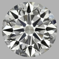0.30 Carat Round Brilliant Diamond, G IF, Cert: GIA#1789