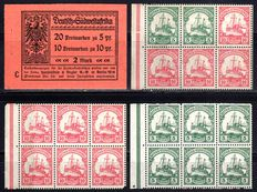 German South West Africa 1913 - stamp booklet with combined prints - Michel 3 Ib