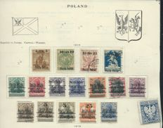 Poland 1918/1961 – Collection on sheets, including postage and airmail
