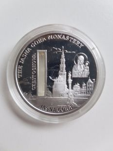 "Sierra Leone – 10 dollars 2009, ""The Jasna Gora Monastery"", with holy water – 1 oz silver"