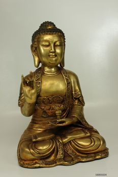 Large bronze Buddha statue - China - late 20th century