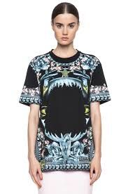 Givenchy Shark Jaw and Mermaid Roses Cotton Tee T Shirt Size XS SS14