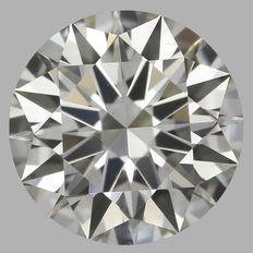 0.50 ct Round Brilliant Diamond I VS2 EGL Serial# 176 Original Image 10X