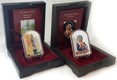 """Tokelau 2017 – 2 dollars – """"Our Lady of Fatima & Weeping Madonna of Syracuse"""" (2 coins) – 2 x 50 g – Silver"""
