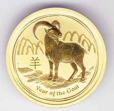 "Australia – 50 Dollars 2015 ""Year of the Goat"" – ½ oz gold"