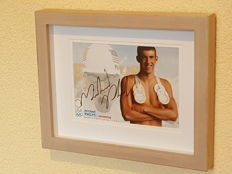 Michael Phelps - most successful Olympian of all time - original signed 3D framed photo + COA.