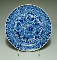 Unique plate with story, marked - China - 19th century.