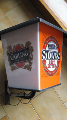 "Outdoor lit sign ""Carling Beer"""
