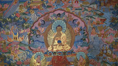Life of Buddha Large Size Thangka Painting - Tibet/Nepal - Second Half 20th Century