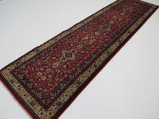 Dreamy and beautiful Persian carpet Indo/Kerman 280 x 80 cm, end of the 20th century, in top condition, from 1€