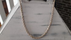 14 K white and yellow gold necklace - 14,49 gr - 42 cm