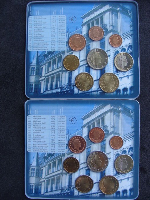 Luxembourg - Year packs 2002a and 2002b