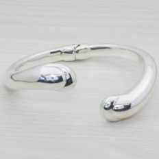 925/1000 sterling - Italian design bracelet - Diameter: 65 mm.