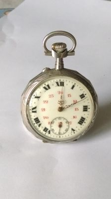 Men's silver pocket watch - 1900