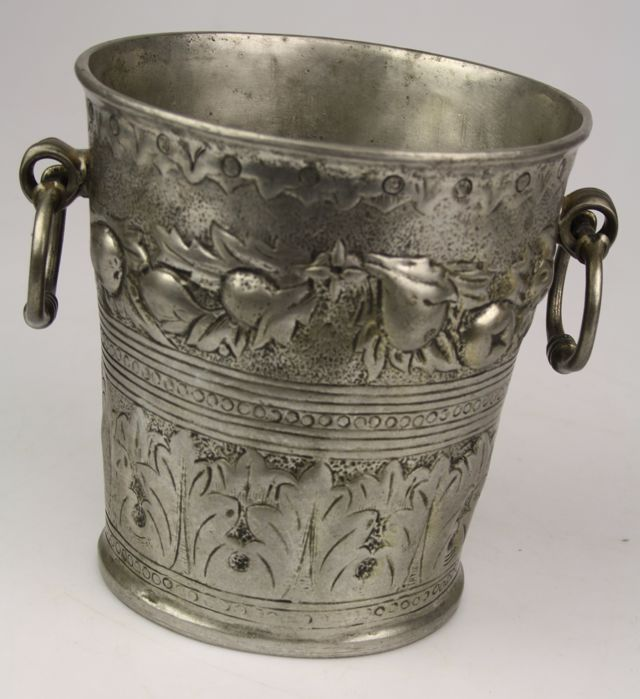 German Silver Wine Cooler | Doyle Auction House |German Wine Refrigerator