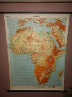 "Old intact school poster of ""Africa"""