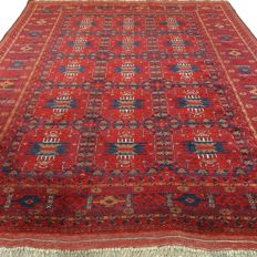 "Afghan - 195 x 157 cm - ""Authentic Persian carpet - 100% wool - in nice condition"""