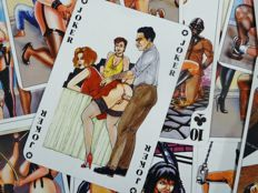 Playing cards; 4 sets of erotic card games - approx. 1975/1985
