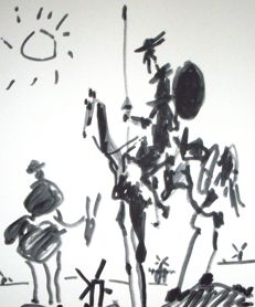 Pablo Picasso (after) - Don Quijote y Sancho