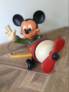 Disney, Walt - Figure - Mickey Mouse in plane (ca. 1980)