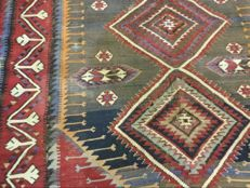 Antique Caucasian Kilim carpet, very fine relay weaving, 300 x 208 cm, early 20th century